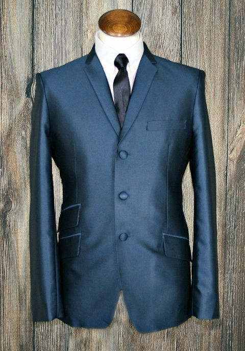 """Campbell""Teal /Blue Tonic Suit"